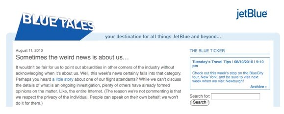JetBlue Responds to Entire Internet With Single Blog Post | Fast Company