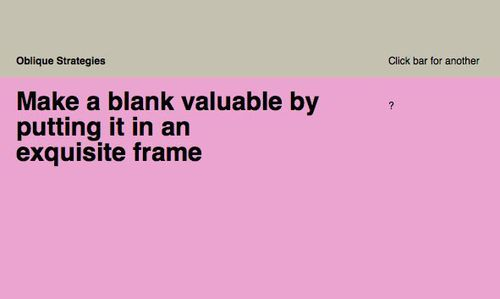 ObliqueStrategiesBlankFrame