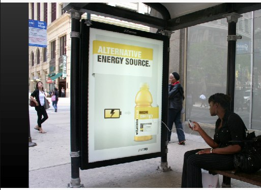VitaminWater_ Energy Bus Shelter - Print (image) - Creativity Online